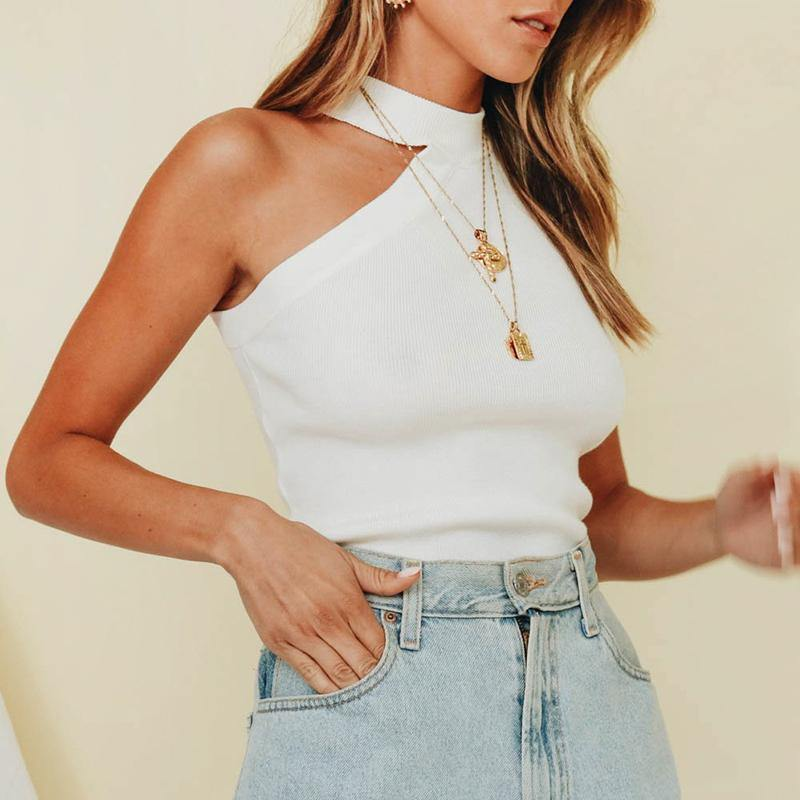 Casual Solid Knitted Top Afterpay - BargainTown