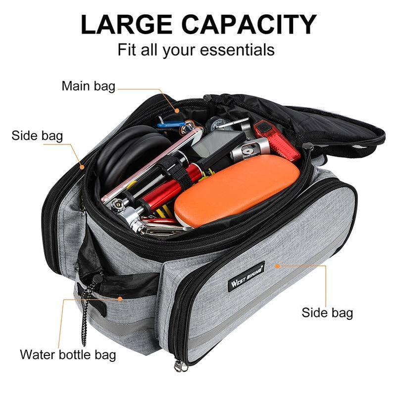 Large Capacity Rainproof Bicycle Rear Rack Bag Afterpay - BargainTown