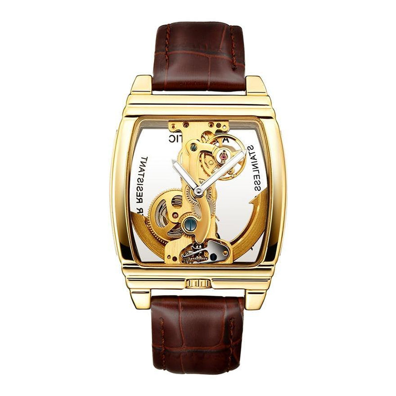 Men's Transparent Mechanical Watch Afterpay - BargainTown
