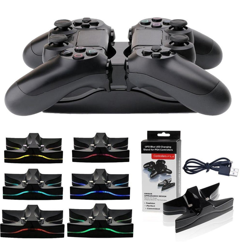UFO LED Dual Charging Dock For PS4 Controller Afterpay - BargainTown