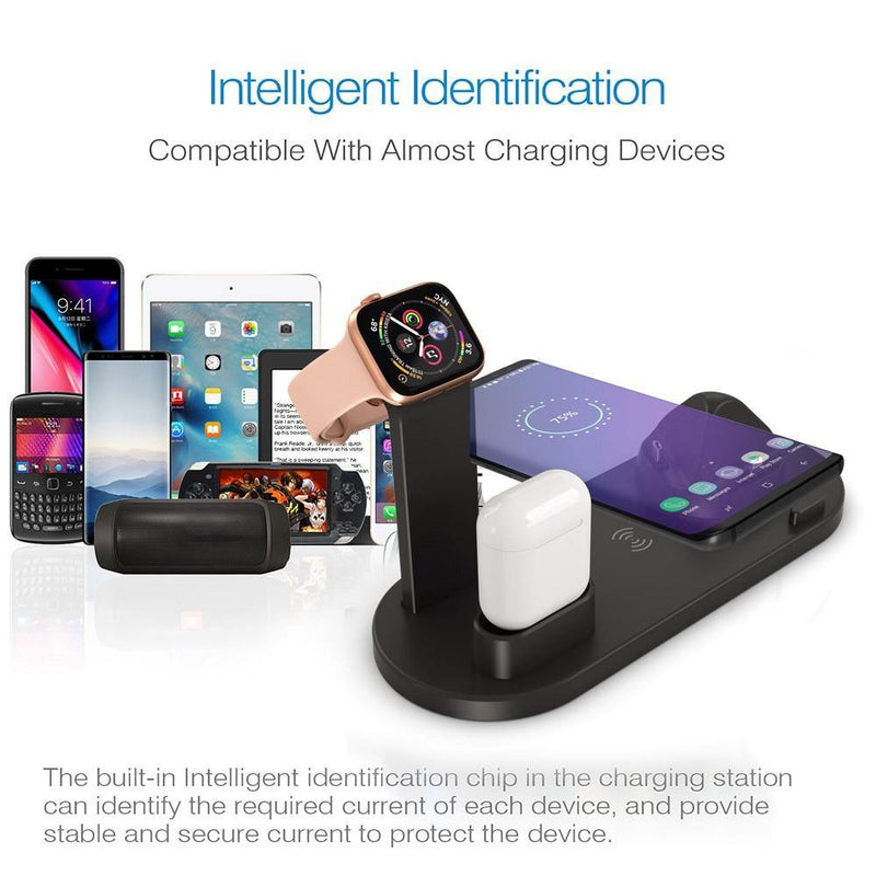 Universal 4 in 1 Wireless Charging Station Afterpay - BargainTown