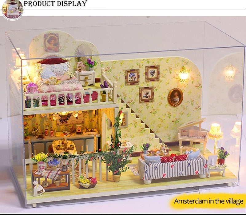 Open House DIY Dollhouse With Furniture Afterpay - BargainTown