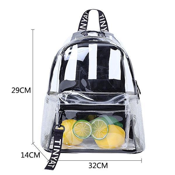 Casual Transparent Backpack Afterpay - BargainTown