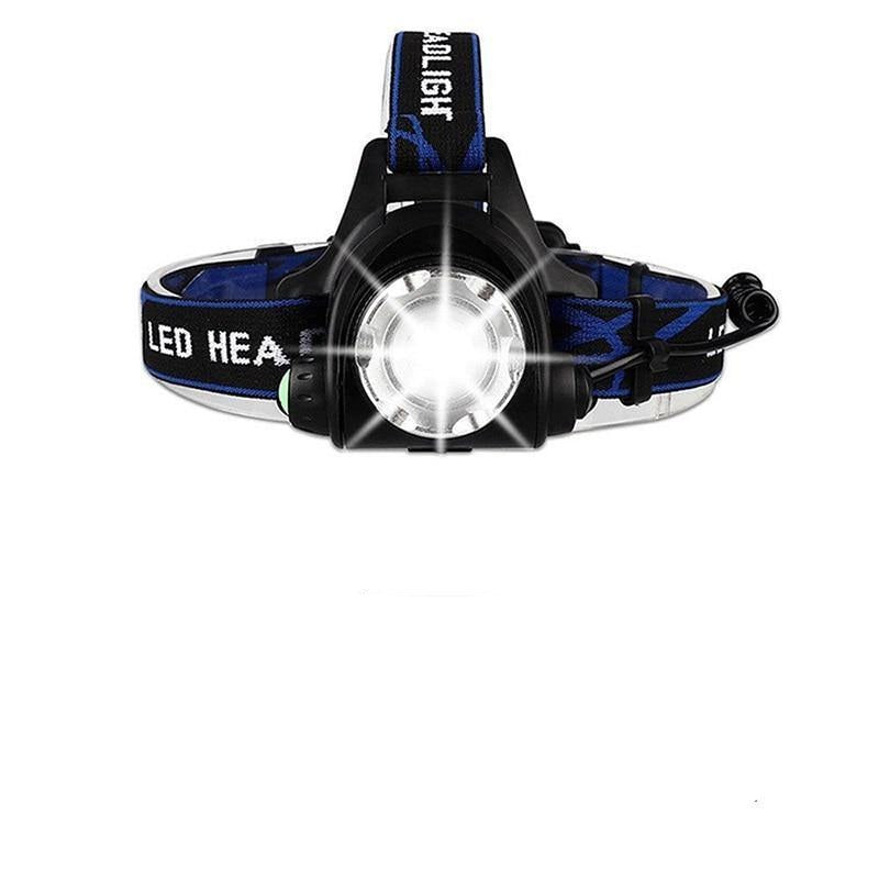 Waterproof Rechargeable LED Headlamp With Zoom - BargainTown