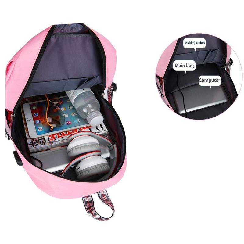 Anti-Theft Student Backpack With USB Charging Port - BargainTown