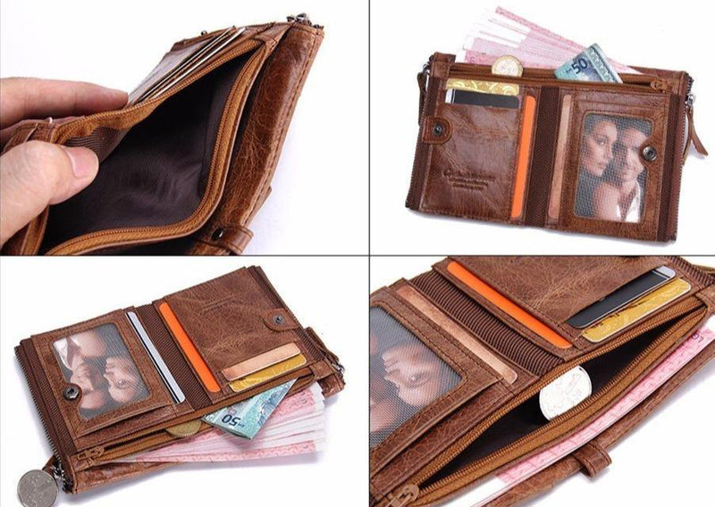 Men's Genuine Leather Wallet Afterpay - BargainTown