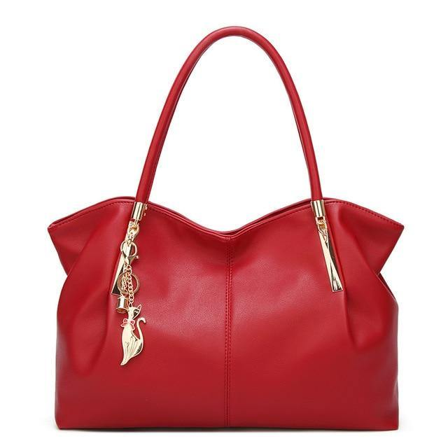 Casual Leather Tote - BargainTown