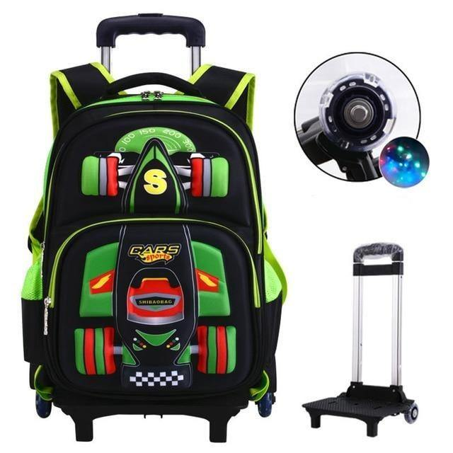 Kids Orthopedics Waterproof Travel Trolley Backpack - BargainTown