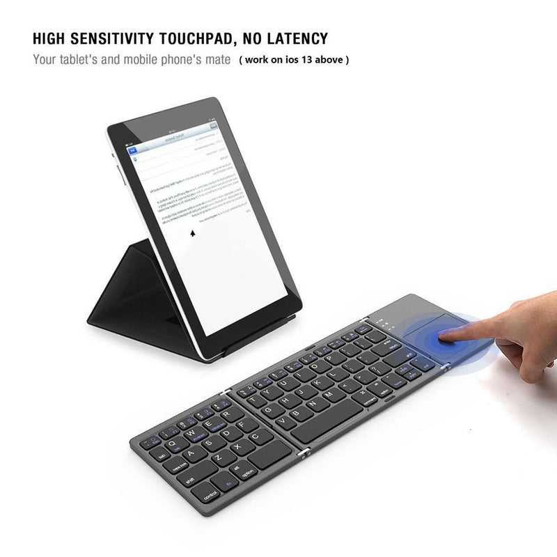 Mini Wireless Folding Keyboard with Touchpad Afterpay - BargainTown