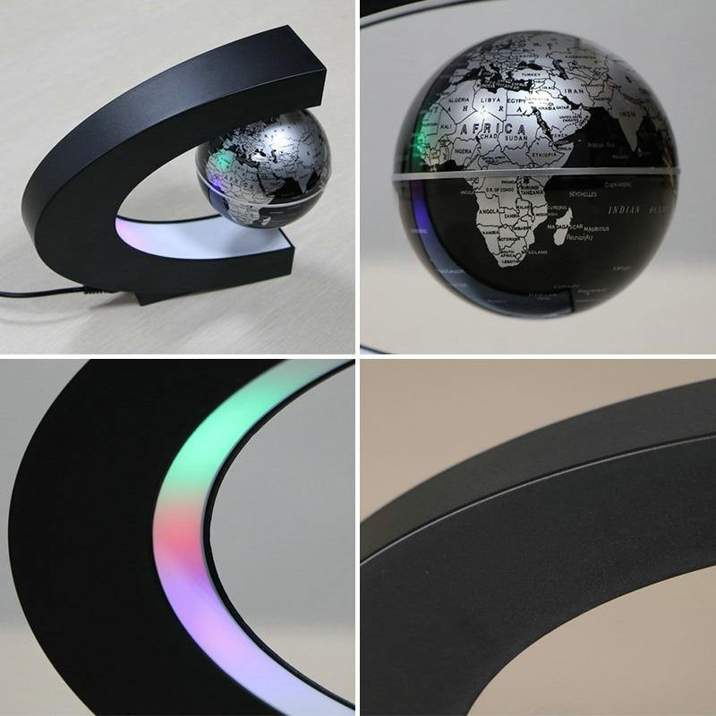 Magnetic Floating Globe LED Night Light - BargainTown