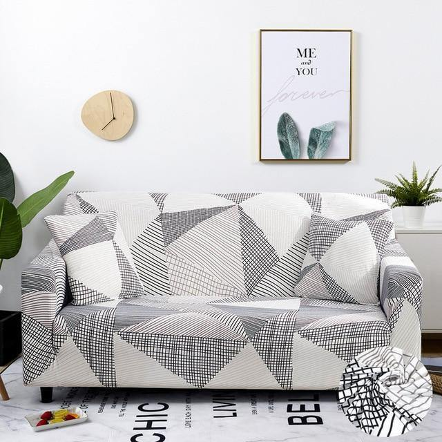 Sectional Elastic Stretch Sofa Slipcovers - Design I - BargainTown