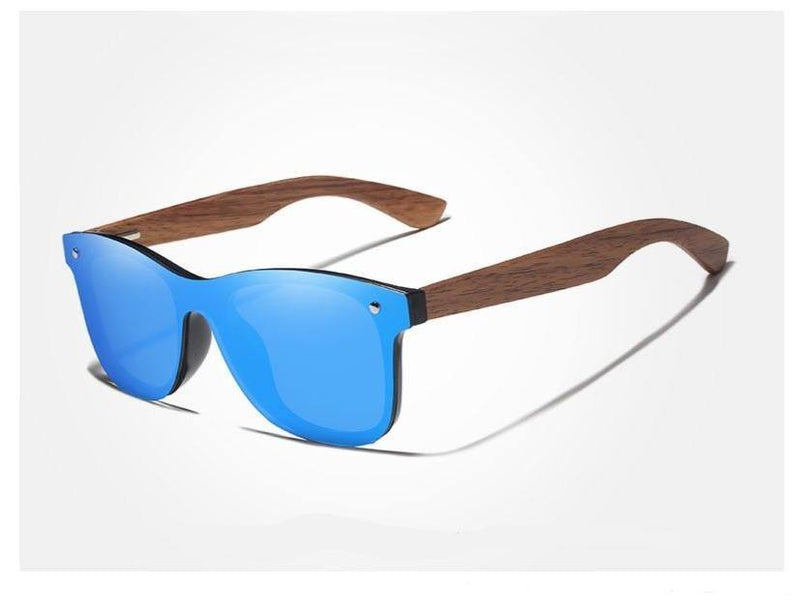 Handmade Wooden Walnut Polarized Mirror Women's Sunglasses Afterpay - BargainTown