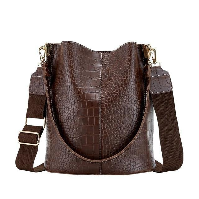 Vintage Leather Crossbody Shoulder Bag - BargainTown