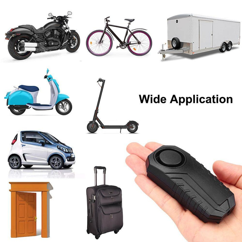 Waterproof Remote Control Anti-Theft Anti-Lost Bike Motorcycle Vibration Security Alarm System - BargainTown