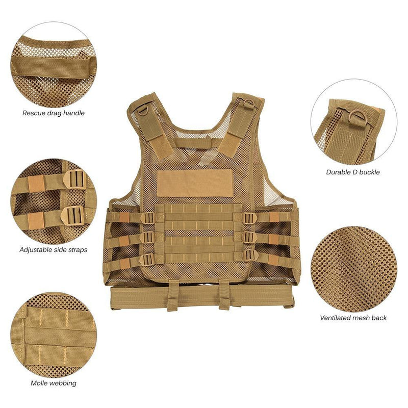 Lixada Molle Armor Load Bearing Tactical Vest Afterpay - BargainTown