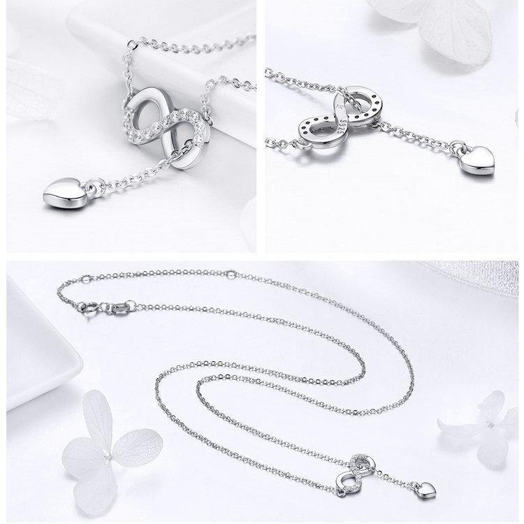 Infinity Love Heart Sterling Silver Necklace Afterpay - BargainTown