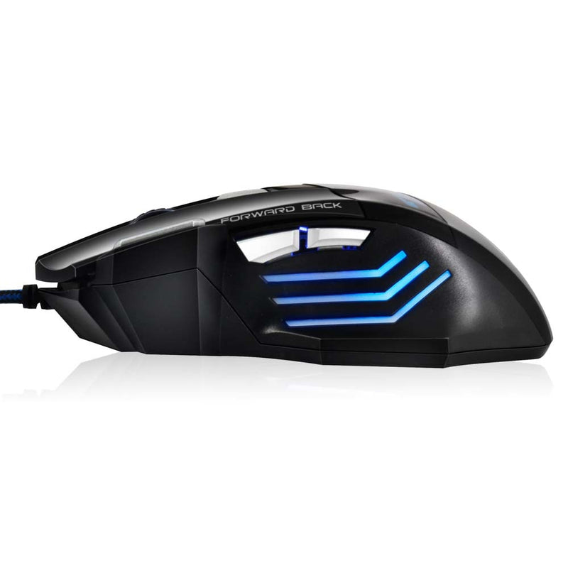 Silent Click 5500 DPI LED Optical Wired Pro Gaming Mouse - BargainTown