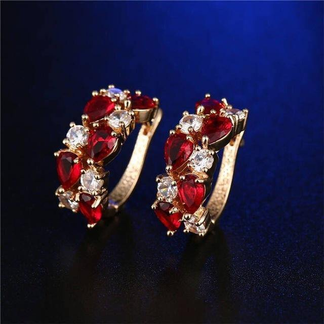 18k Gold Plated Cubic Zirconia Earrings Afterpay - BargainTown