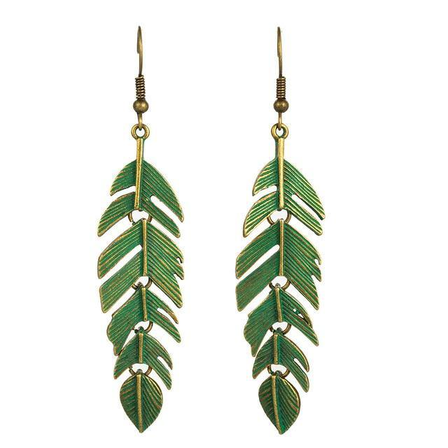 Long Leaf Dangle Drop Earrings Afterpay - BargainTown