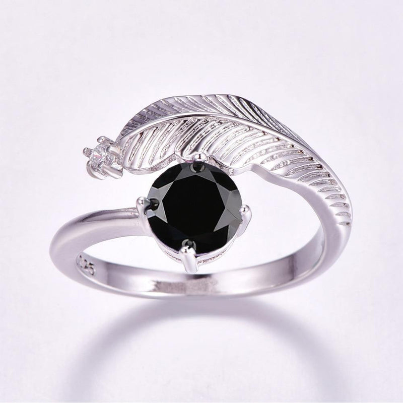 Feather Silver Plated Ring Afterpay - BargainTown