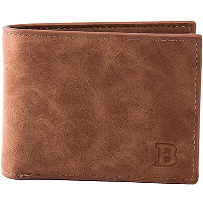 Men's Slim Leather Wallet Afterpay - BargainTown