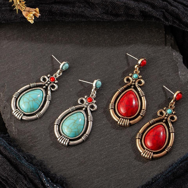 Bohemian Natural Stone Drop Earrings Afterpay - BargainTown