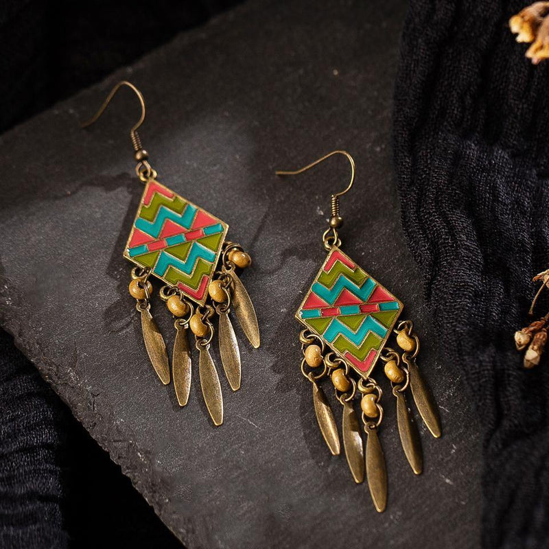 Exotic Beaded Dangle Drop Earrings Afterpay - BargainTown