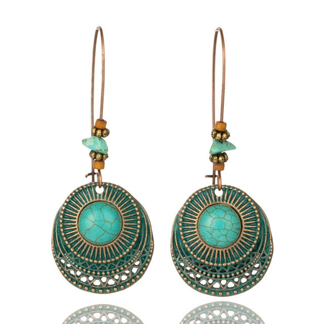 Vintage Turquoise Drop Earrings Afterpay - BargainTown
