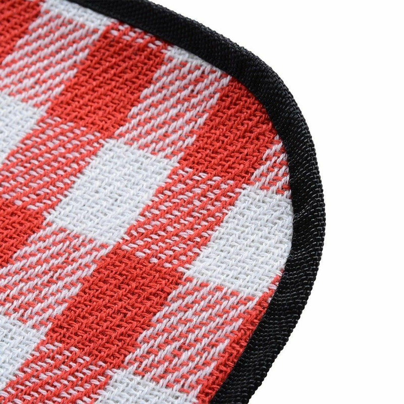 Premium 2mX2m Water Repellent Cashmere Camping/Picnic Blanket Red/Black Afterpay - BargainTown