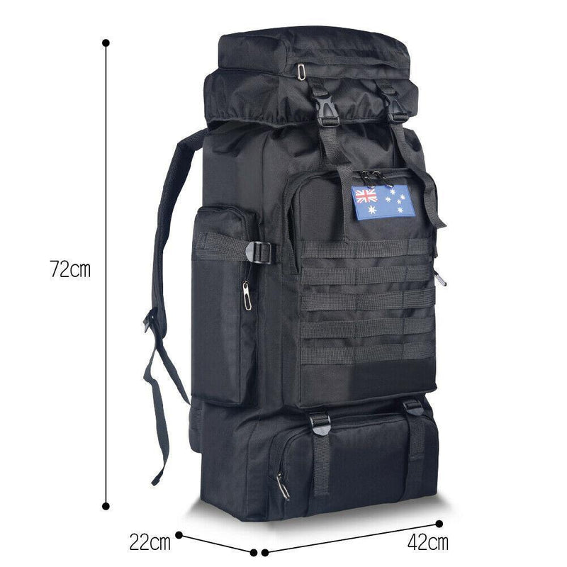 80L Tactical Hiking Backpack Afterpay - BargainTown