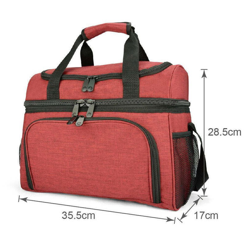 19L Dual Compartment Insulated Lunch Bag Cooler Bag Afterpay - BargainTown