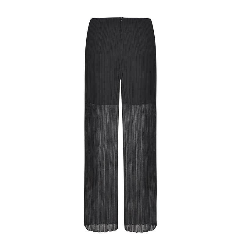 High Waist Chiffon Pleated Casual Trousers