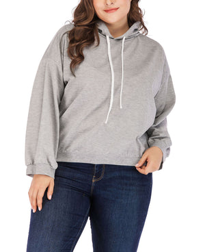 Casual Fashion Large Size Hooded Drawstring Sweater