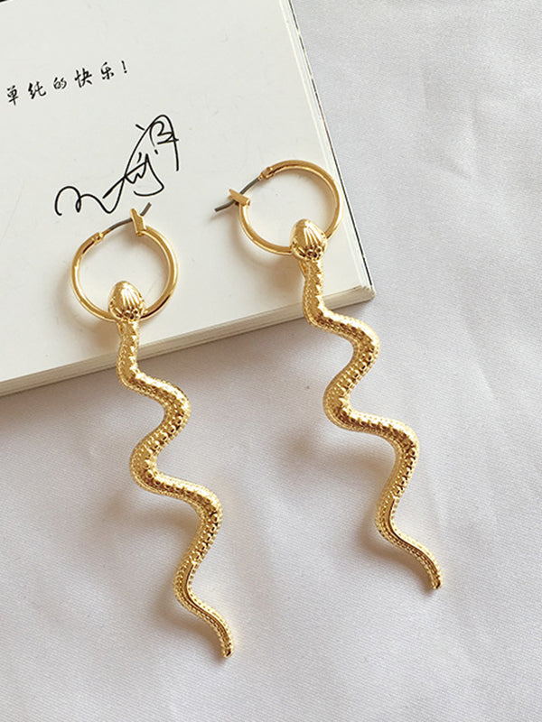 Long Snake Earrings Mysterious Personality Exaggerated Earrings Earrings