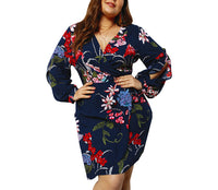 Large Size Temperament Sexy A-line Dress
