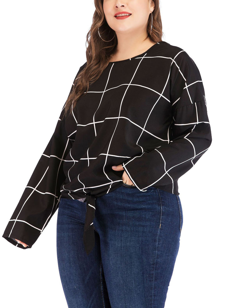 New Large Size Women's Long-sleeved T-shirt