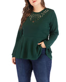 Large Size Long Sleeve Women's T-shirt