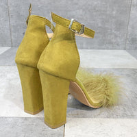 Fashion One-piece Plush Sandals Large Size Female Wild Rough with Women's Shoes