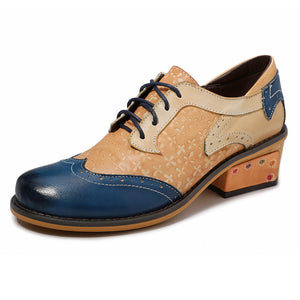 Casual Vintage Ethnic Style Brock Leather Fashion Shoes