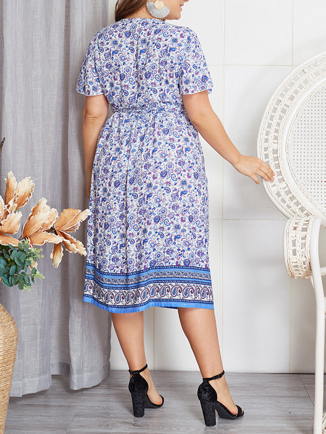 Summer Plus Size New Print Dress