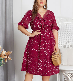 Large Size Summer Polka Dot Sexy Dress