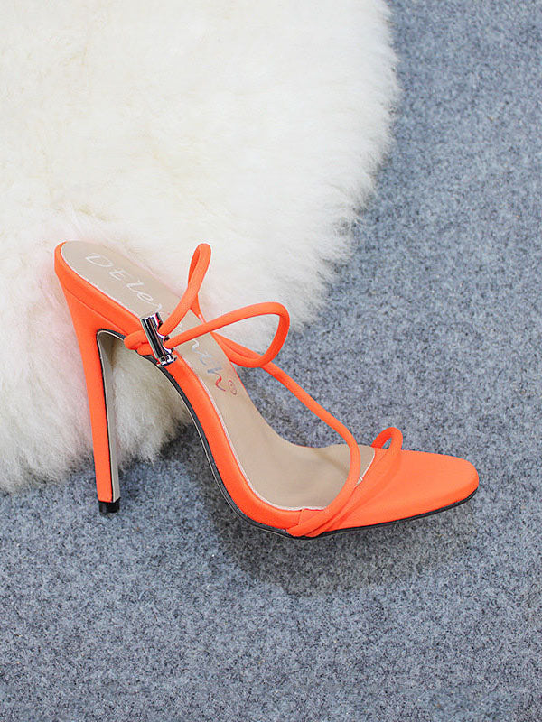 Candy Bright Color High Heels Large Size Women's Shoes