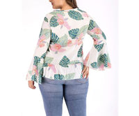 Flared Sleeve Long Sleeve Large Size Top