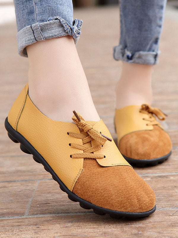 Spring Set Foot Mother Shoes Printing Peas Shoes Nurse Shoes Leather Casual Shoes Women
