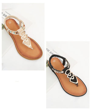 Thong Sandals Female Summer Fashion Boho Sandals Women's Large Size Women's Shoes