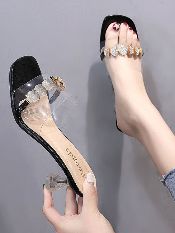 Summer Women's Shoes, A Pair of Sandals and Slippers, with A Female Head, Fashion Slippers, Women's Shoes