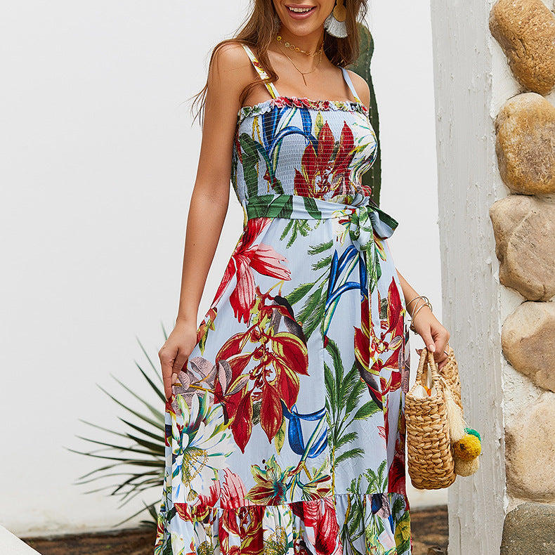 Bohemian Sling Dress Beach Skirt
