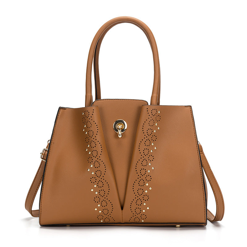 Elegant Temperament Ladies Rivet Shoulder Bag Handbag