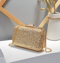 Fashion Women's Shoulder Bag Versatile Messenger Chain Bag Sequin Evening Bag