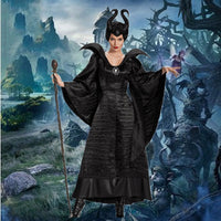 Halloween Sleeping Curse Black Witch Costume Dark Witch Cosplay Stage Costume
